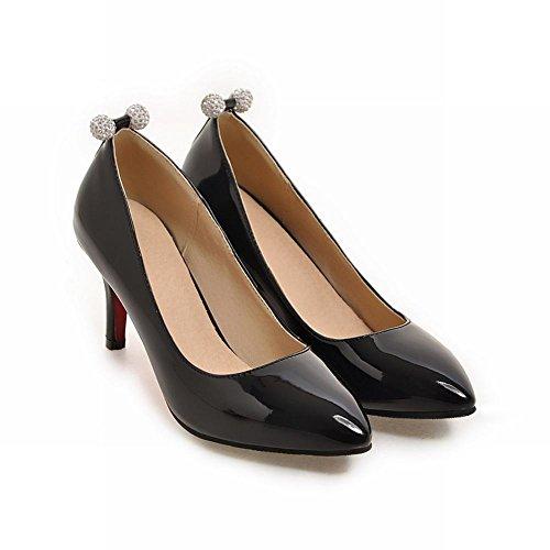 Mee Shoes Damen einfach high heels Geschlossen Pumps Schwarz