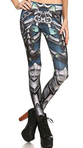 Belsen donna deadpool stretch leggings pantaloni a matita (l, artigli)