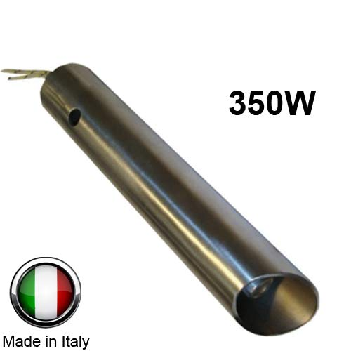 Ferroli Anselmo Cola - Bujía de encendido para estufa de pellets de 350W, 120mm/130mm; diámetro de 16mm/25mm