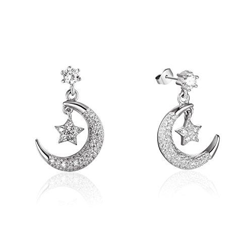 silver-tone-925-sterling-silver-3-mm-zircone-crescent-moon-star-modello-degli-orecchini
