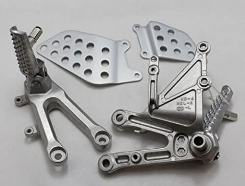 2PCS Motorcycle Parts Footrests Pegs Foot Bracket Left&Right Passenger Front Fit For HONDA CBR1000RR CBR1000 RR 2006