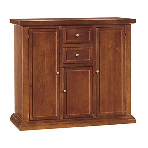 Credenza, stile classico, in legno massello e mdf con rifinitura in noce lucido - Mis. 100 x 40 x 88