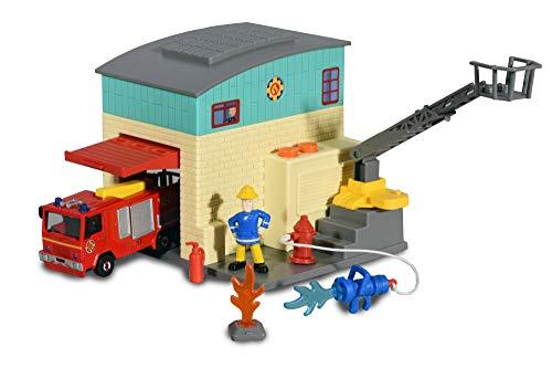 feuerwehrstation dickie Dickie Toys 203093005 Feuerwehrmann Sam Feuerwehr Station Spielset, bunt