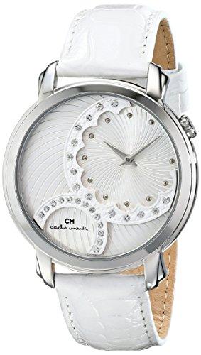 Carlo Monti - CM802-186 - Montre Femme - Quartz - Analogique - Bracelet Cuir Blanc