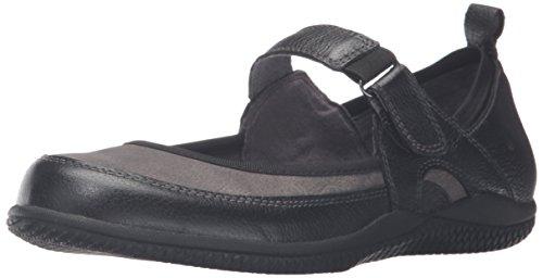 Softwalk Haddley Femmes étroit Cuir Mary Janes Black-Grey