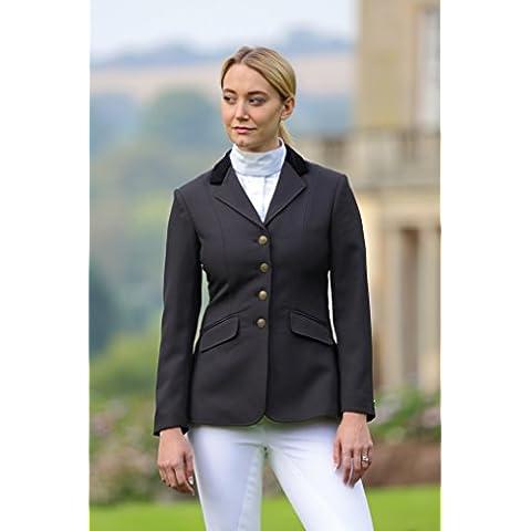 Shires–Aston Show hípica chaqueta todos los tamaños azul marino, negro, mostrando, mujer, color negro, tamaño 34
