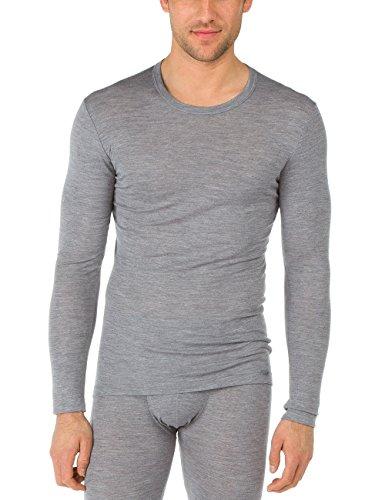 Calida Herren Funktionsunterwäsche Sweat-Shirt Wool & Silk, Blau (Platin Melé 856), Large (Herstellergröße: L=52) (Unterwäsche Calida Slip)