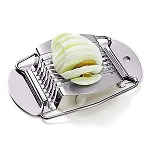 omufipw Edelstahl Eierschneider Cutter gekochtes Ei Slicer Obst Gemüse Slicer