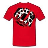Spreadshirt Motocross MX 200% Adrenalin Männer T-Shirt, XL, Rot