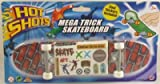 28cm Hot Shots Mega Trick Scateboard - Cool Skate Stickers Included (HL166)