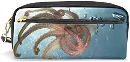 Trousse Grande contenance Supports Ocean Royaume sous-marin sous-marin sous-marin Octopus Animaltentacles Pen papeterie Pouch Sac avec fermeture à glissière Maquillage B07KKJXSMY | élégante  3b9e27