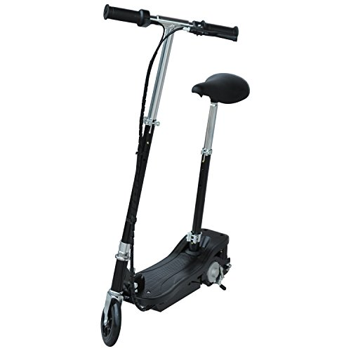 HOMCOM Monopattino Scooter Elettrico per Bambini con Sedile Pieghevole e Velocità Regolabile Max 12KM/H, 81.5 x 37 x 96cm, Nero