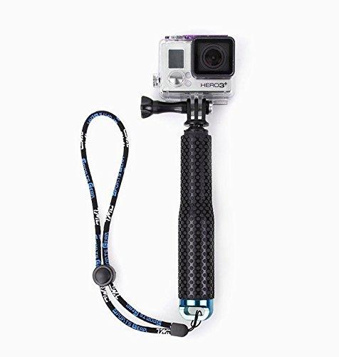 Flycoo Selfie-Stick für Actionkamera GoPro Hero 5, 4, 3 + 2/Sony Action Cam/Canon/Nikon/Sony/Panasonic/Olympus SJ5000, SJ4000, Xiaomi Mijia 4K etc., Monopod, ausziehbar, 19-49 cm