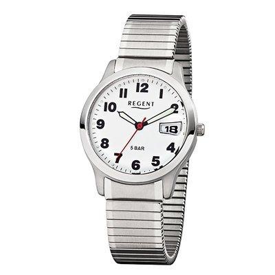 REGENT 11310053 - Reloj para hombres, correa de acero inoxidable color plateado