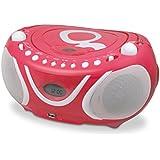 Metronic 477148 Gulli Radio / Lecteur CD / MP3 Portable pour Enfant avec Port USB - Rose
