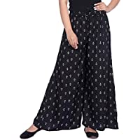 LCUPR Fashionable Modern Women Rayon Printed Palazzo (Suitable for Waist Size S to XL and Free Size 28 to 38)