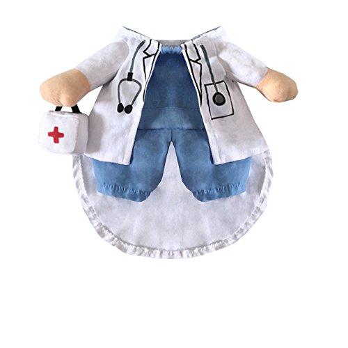 LQZ Haustierkostüm Haustier Kleidung für Katze/Hunde Modell Arzt Halloween Weihnachten (Arzt Kostüm Hund)