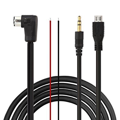 Eximtrade 3,5mm AUX y Micro USB Conector Cable Carga Audio MP3 Música...