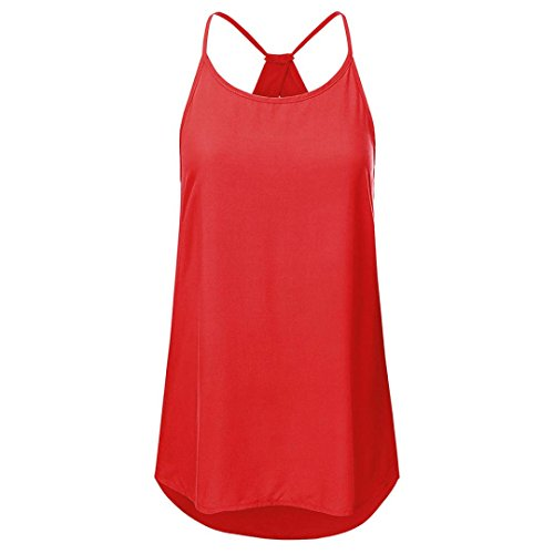 ESAILQ Damen Valueweight T Lady-Fit(L,Rot)