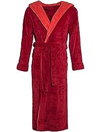 Celinatex Texas 4413, Albornoz Elegante Con Capucha Unisex, Rojo (Bordeaux Red), XXXL