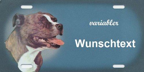 Hundeschilder selbst gestalten American Stafford - Hundewarnschilder