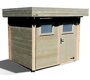 Abri de jardin Moderne en Bois Mikki 4,80 m² épaisseur 19 mm