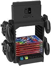 Homebase für Nintendo Switch Aufbewahrung Ständer inkl. Schublade, Platz für Controller und Spiele