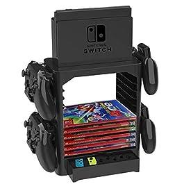 Nintendo Switch Homebase Playstand Basi Staffe incl. Cassetto, Spazio per il Controller e Giochi