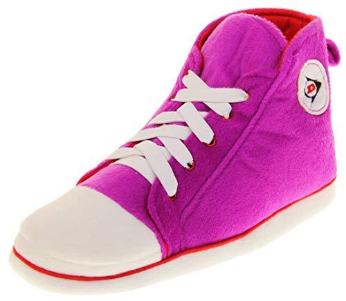 Dunlop Damen Hausschuhe Sneaker Pumps Stiefel Pink, Gr.- EU 40-41/ Large