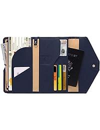Longra bolso Multiusos de la Tarjeta del diseño Triple Triple del Pasaporte del Viaje Neutral Mini