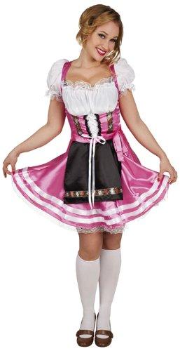 Preisvergleich Produktbild Boland 87448 - Erwachsenenkostüm Sexy Helena Dirndl, Gröe L, rosa / weiß Ÿ/ schwarz