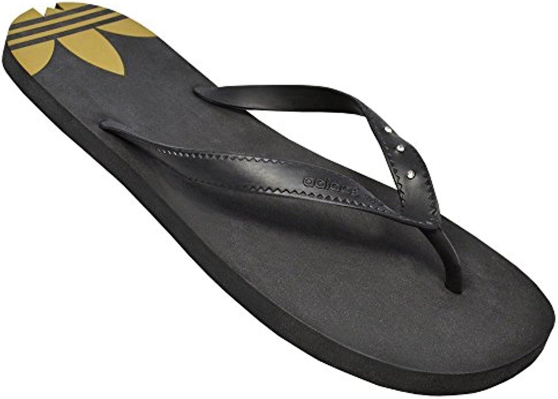 Adidas Adi Sun Badelatschen black-black-metallic gold - 7
