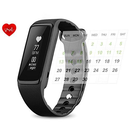 Omorc Bracelet intelligent moniteur d'activité Now2Norme d'étanchéité IP68Podomètre Fréquence cardiaque Calories Moniteur de sommeil Compatible iPhone et Android