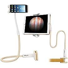 AcTopp Supporto Tablet iPad da Letto, Porta Cellulare Universale, 360 Gradi di Rotazione, con Lungo (Grande Magnesio)