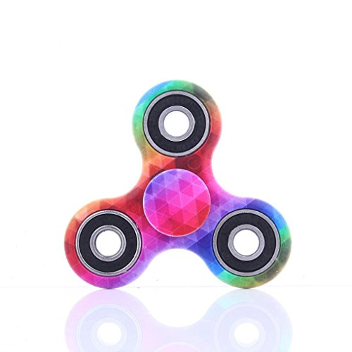 Hand Fidget Spinner,Omiky® Milky Galaxy Tri Fidget Spinner Aluminium Alloy Finger Groy Toy for SBDX ADD ADHD Anxiety Autism Suffers (# E)