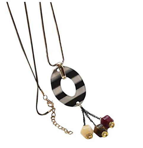 Moderne Halskette für Frauen mit schönen mehrfarbigen Anhänger #01