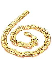 AnaZoz Joyería de Moda 18K Chapado en Oro Collar de Hombre Compromiso de Boda Color Oro Collar Longitud 51CM