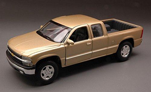 maisto-mi31941-chevrolet-silverado-2003-gold-127-modellino-die-cast-model