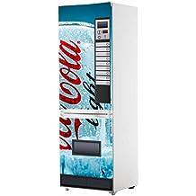 Pegatinas Vinilo para Frigorífico Máquina expendedora Cocacola Azul | Varias Medidas 185x60cm | Adhesivo Resistente y