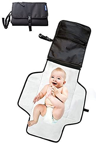 Portable changing mat ● Baby changing bag with Storage Pockets For easy diaper changes on the go ❤ Best Travel Baby Diaper Changing pad Kit ❤ Waterproof Diaper Changing Station Kit to Keep Baby Clean and