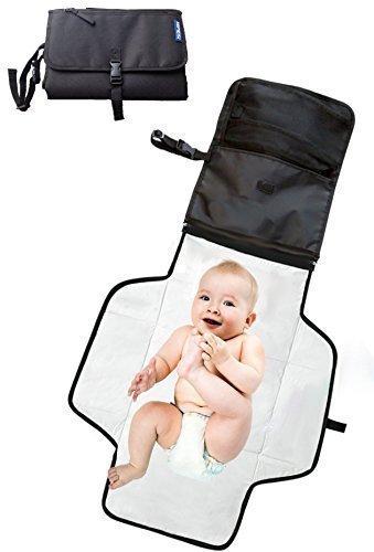 Cambiador bebe portatil para cambiar de pañales o ropa al bebé ❤ bolso cambiador bebe de mano plegable de viaje ❤ Para llevar las cositas del bebé en todo momento