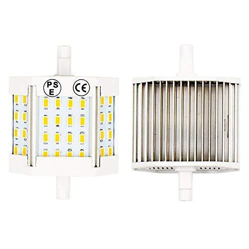 LuxVista 10W R7S LED Lampe 78mm Warmweiß 3000K 220V 1100 Lumen 200 Grad R7s LED Flutlicht J78 T3 Form als Ersatz 100W Halogenbirne (2-Stück) - 150w T3 Halogenlampe
