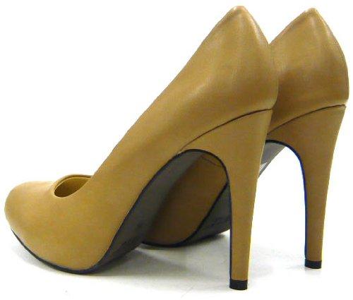 Damen Schuhe Klassische Damen Pumps Khaki
