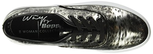 Beppi Canvas 2148680, Chaussures de sport femme Noir (Black)