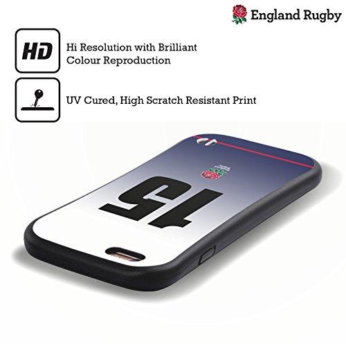 Ufficiale England Rugby Union Posizione 7 2017/18 Kit In Casa Case Ibrida per Apple iPhone 6 Plus / 6s Plus Posizione 15