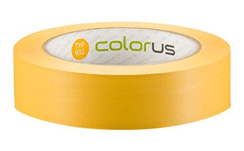 Colorus Premium PVC Putzerband Putzband Bautenschutzband Schutzband gelb quergerillt 33m x 30mm