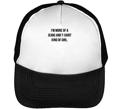 I'm More of Kind of Girl. Trucker Cap Herren Damen Schwarz Weiß Snapback