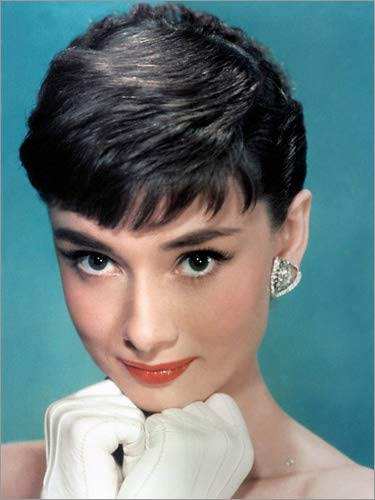 Poster 100 x 130 cm: Audrey Hepburn di Bridgeman Images - Stampa Artistica Professionale, Nuovo Poster Artistico