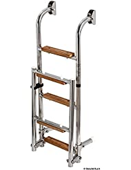 Scaletta inox/legno 5 gradini English: S.S/wood ladder 5 steps