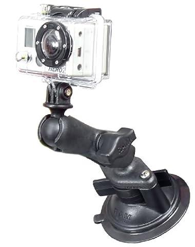 Italianboz Ram-MountRAP-B-166-GOP1U Support à ventouse en plastique pour caméra embarquée pour voiture avec le système GoPro® HDHero